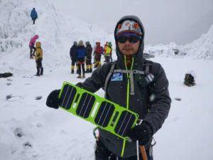 Chargeur solaire Pocket Power en hiver