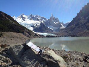 Panneau solaire portable en Patagonie