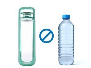 Bouteille réutilisable vs bouteille plastique