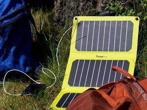 Panneau solaire pour la randonnée