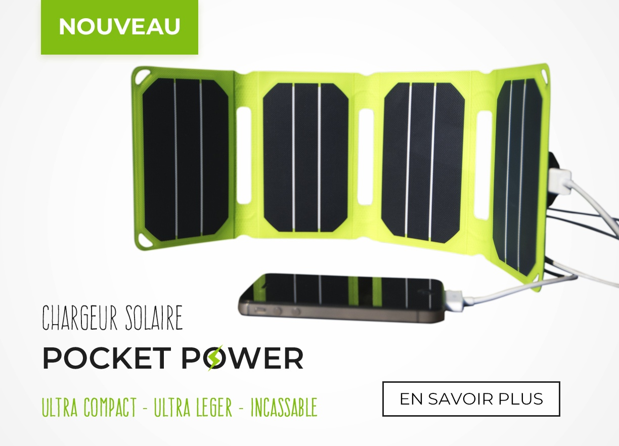 Chargeur solaire ultra-compact Pocket Power