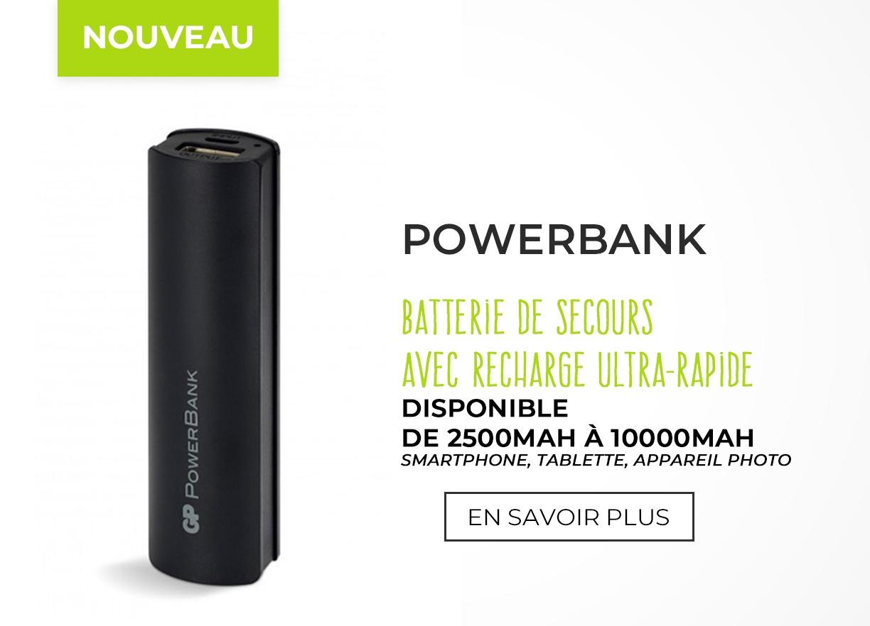Des batteries externes pour tout charger !